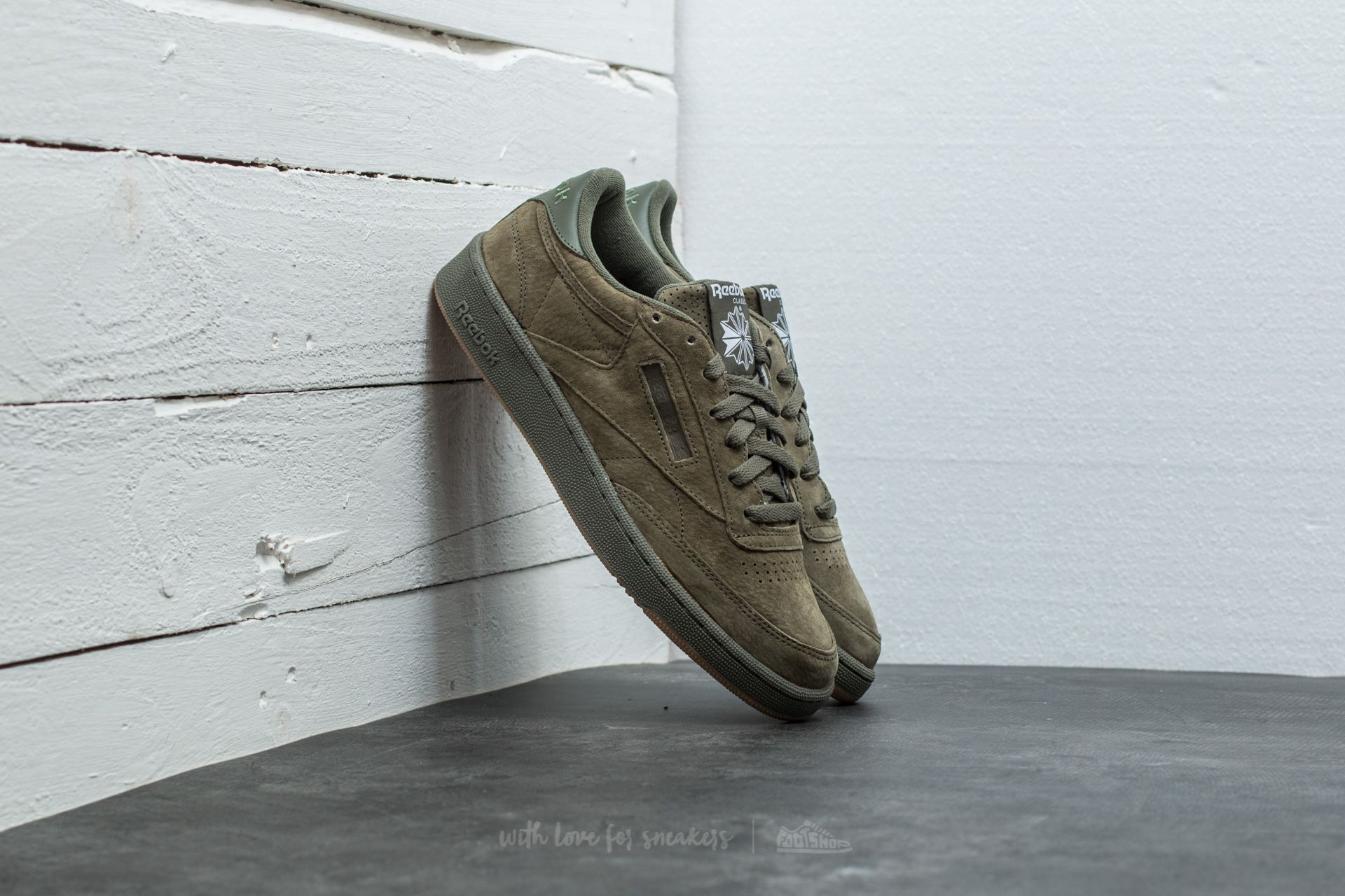 4f36edf76e5 Reebok Club C 85 Seasonal Gum Hunter Green  White-Gum
