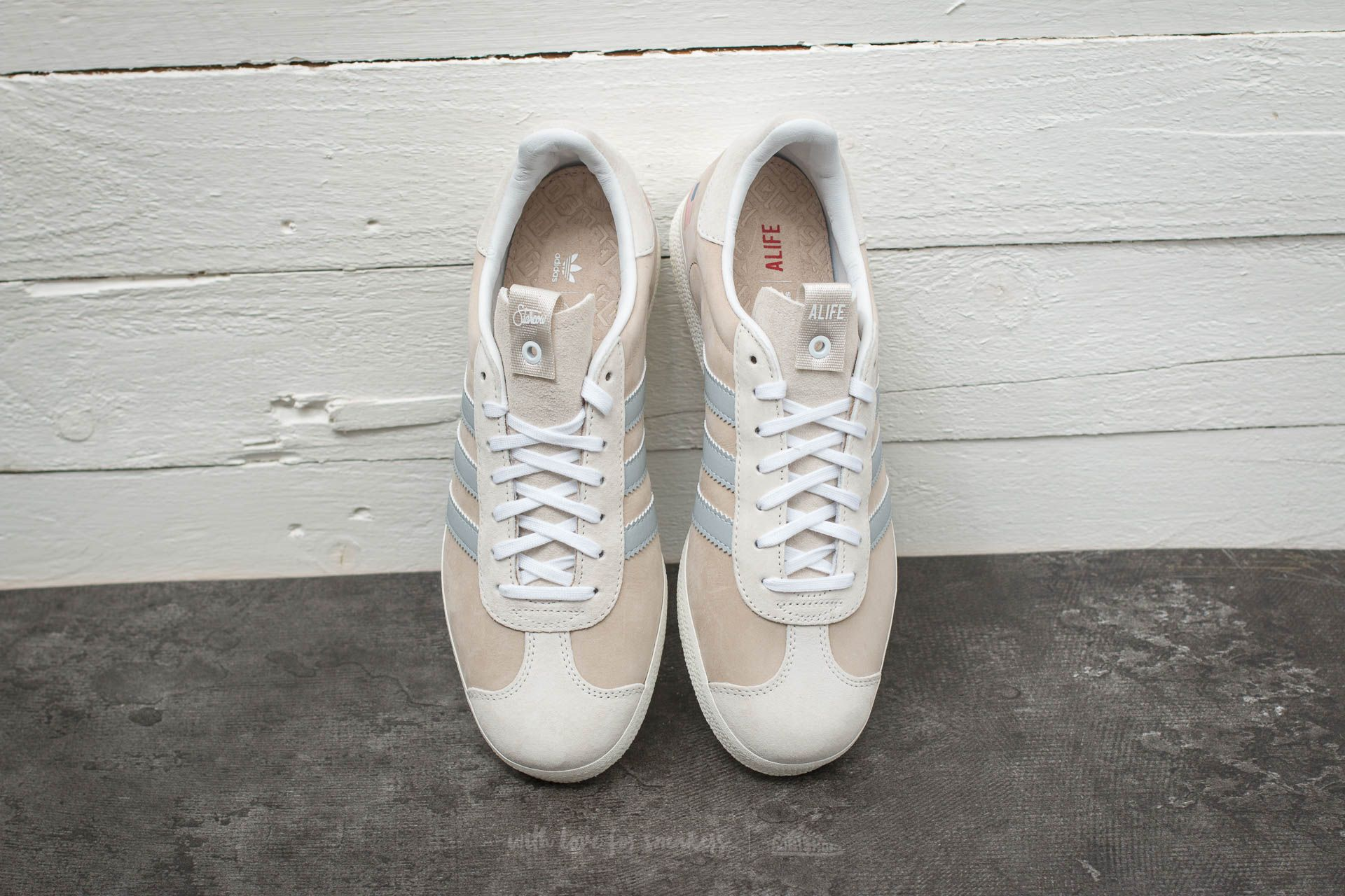 textura Deportes Instalar en pc  Men's shoes adidas Consortium x Alife x Starcow Gazelle S.E. Core White/  Core White/ Core White | Footshop
