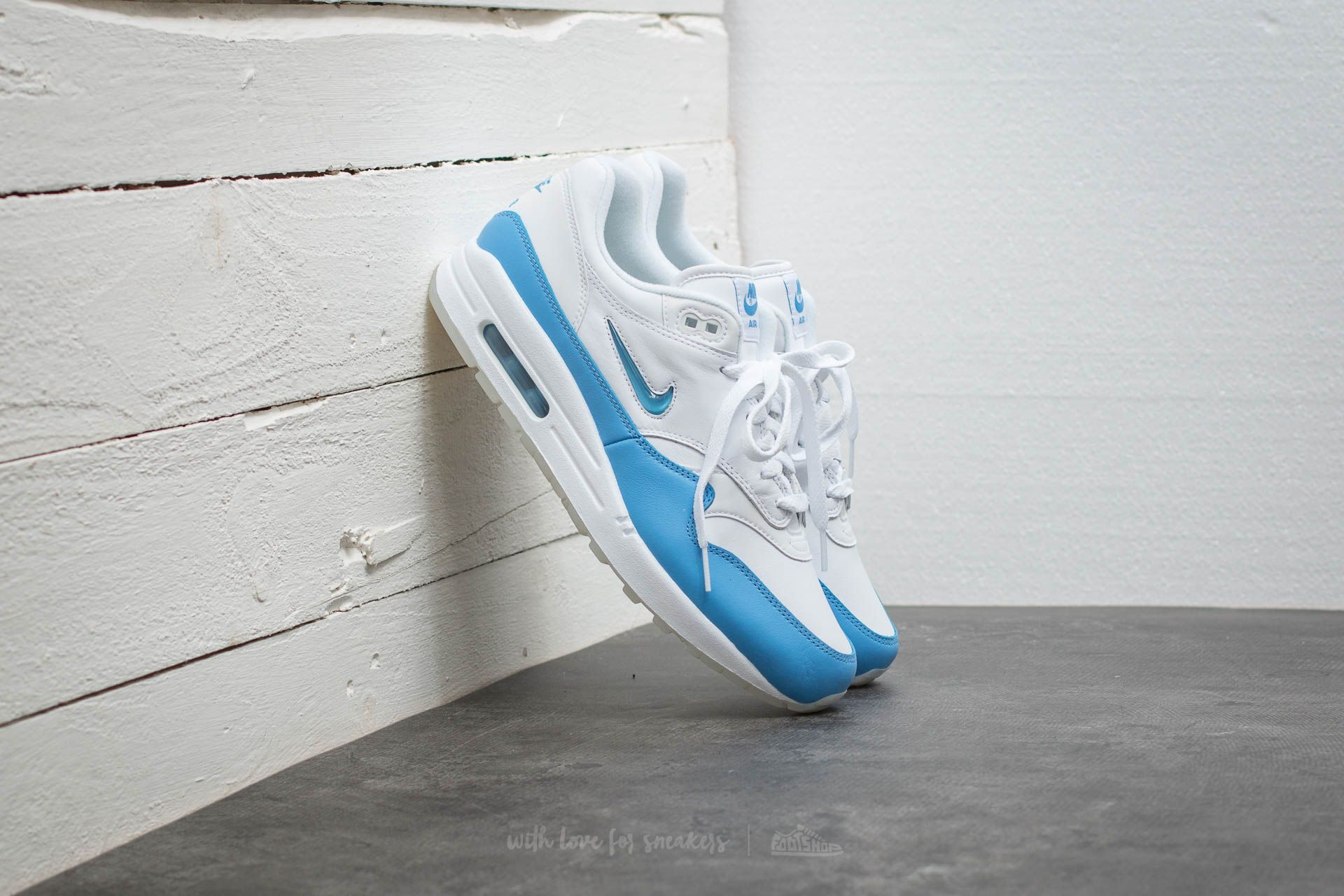 The Nike Air Max 1 Premium Jewel University Blue Is