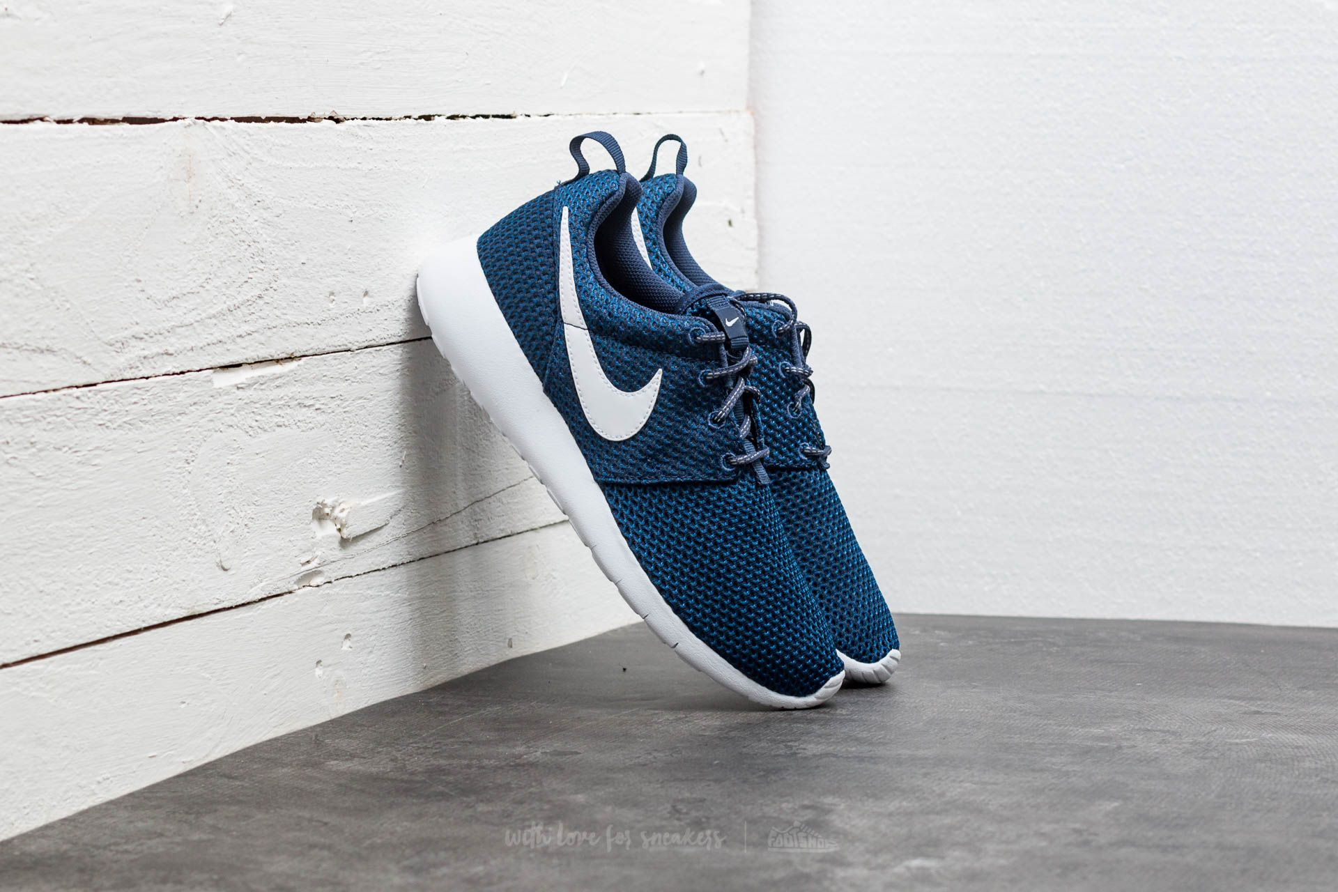 274a907480b3 Nike Roshe One (GS) Midnight Navy  White-Gym Blue