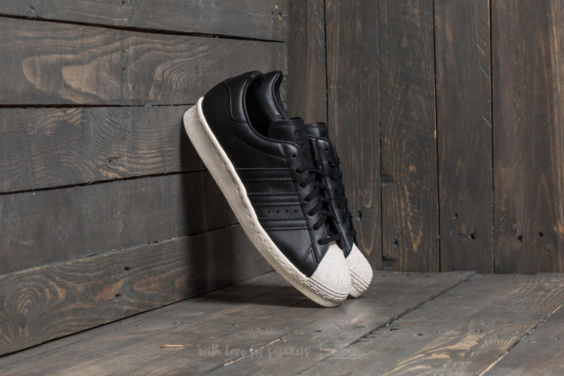adidas Superstar 80s Cork W Core Black  Core Black  Off White  be67ab3625