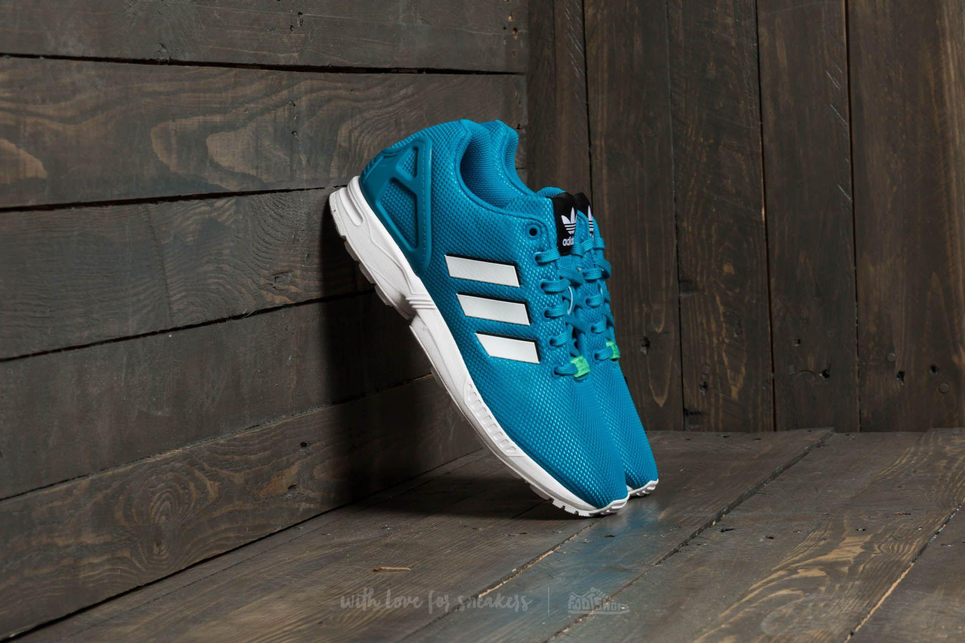check out c8ff7 09a63 adidas ZX Flux Bold Aqua/ Footwear White/ Green Glow | Footshop