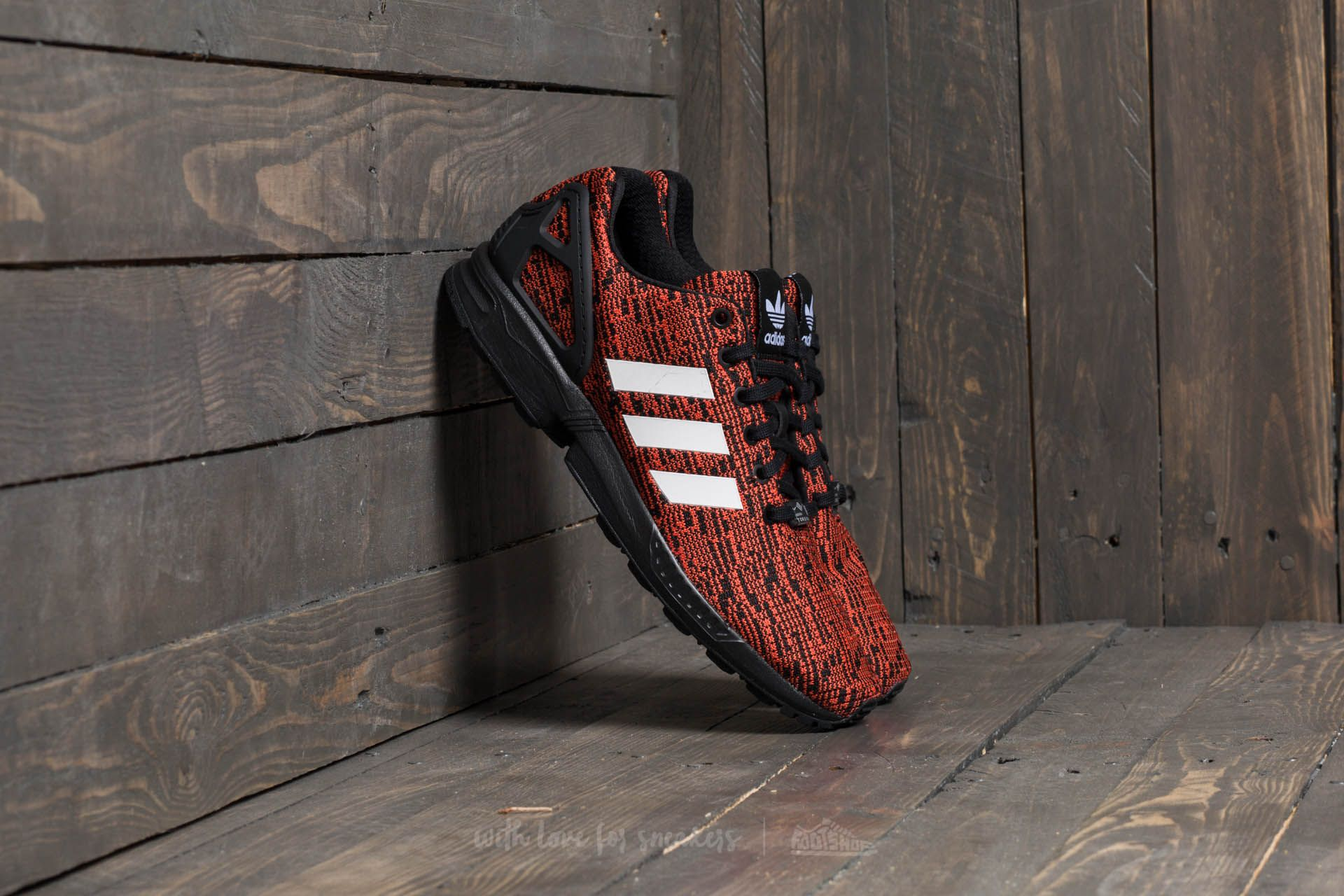 separation shoes 8bb23 40ac0 adidas ZX Flux Core Black/ Footwear White/ Red | Footshop