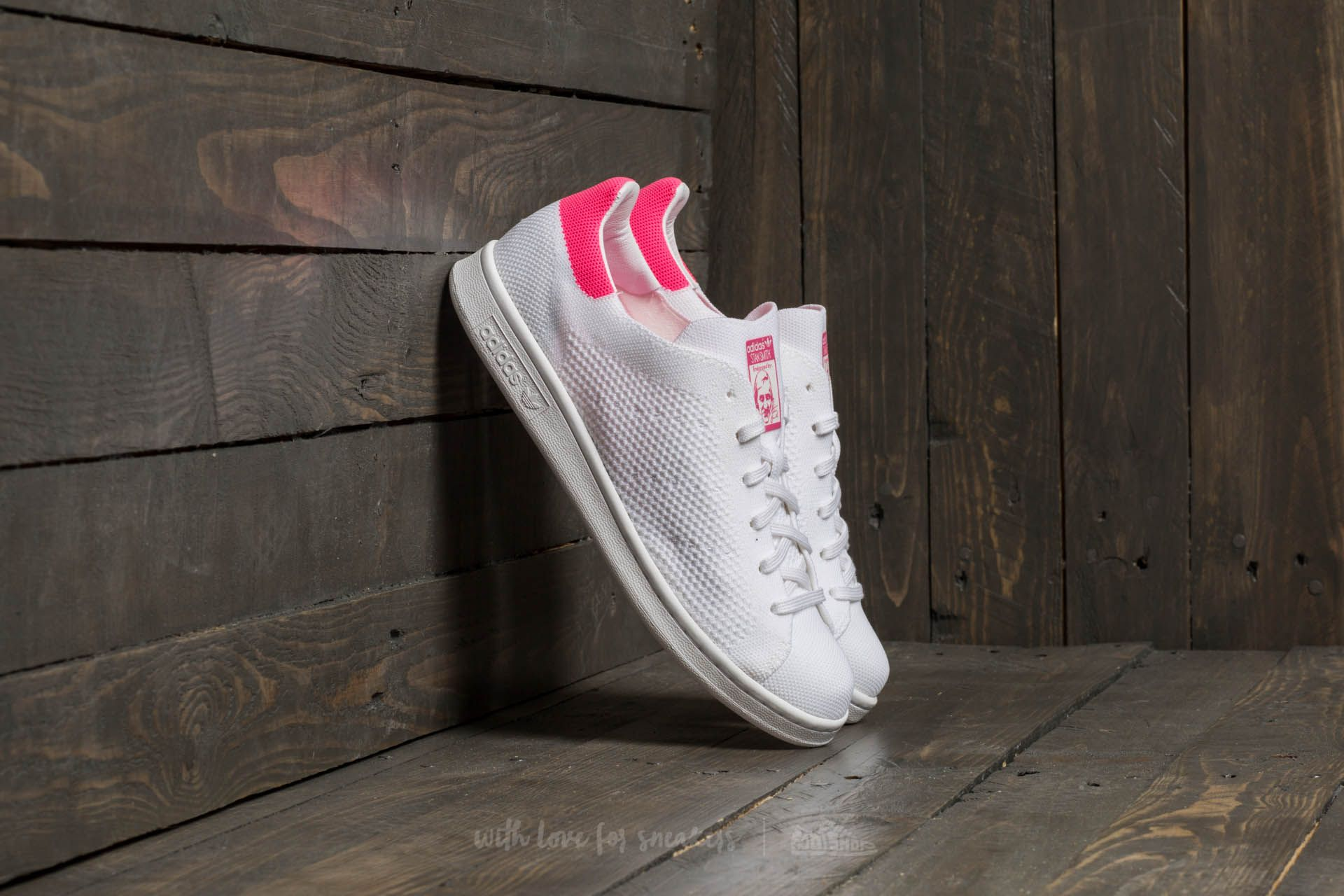 cb47bab1a501 adidas Stan Smith Primeknit Ftw White  Ultra Pop