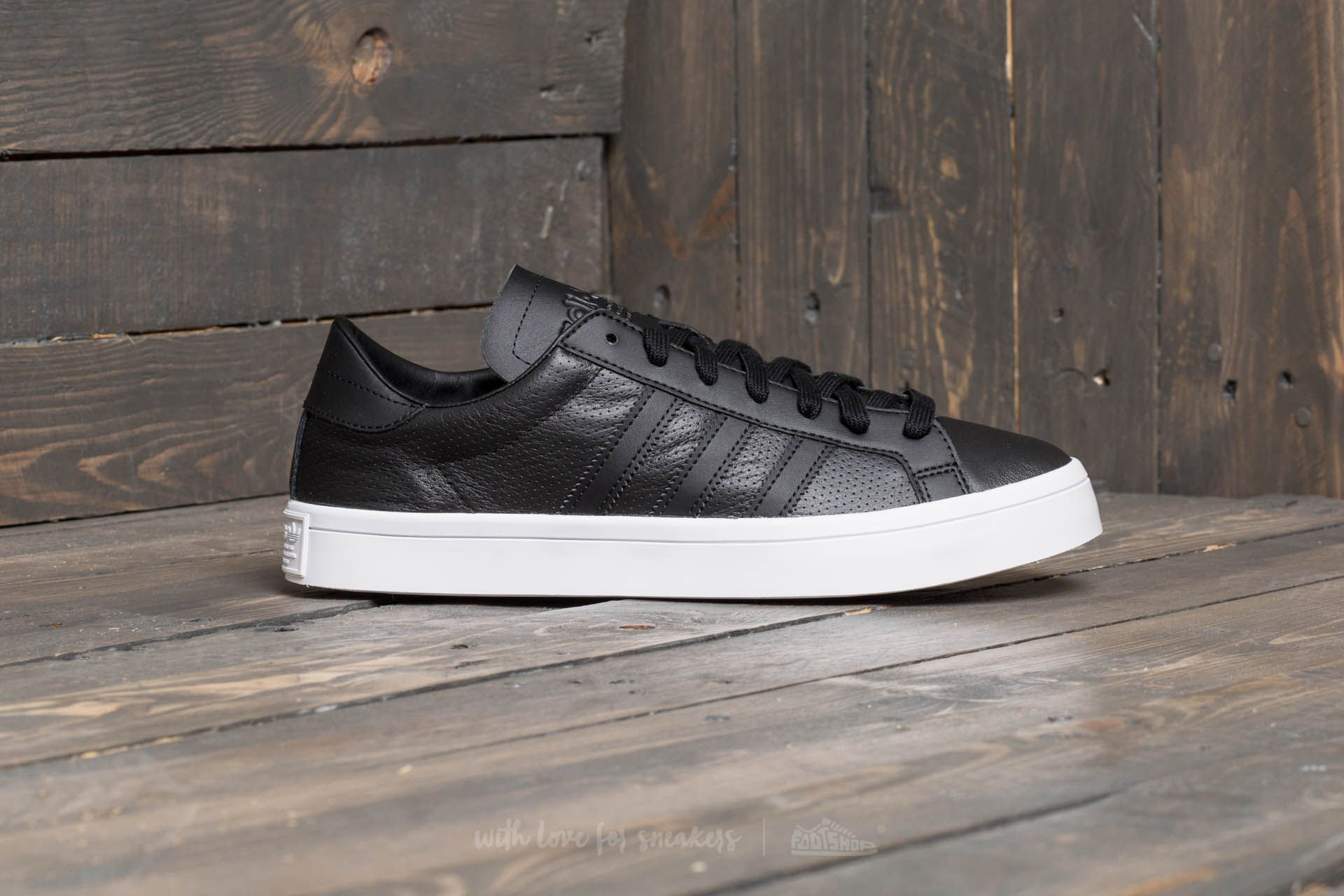 adidas court vantage black