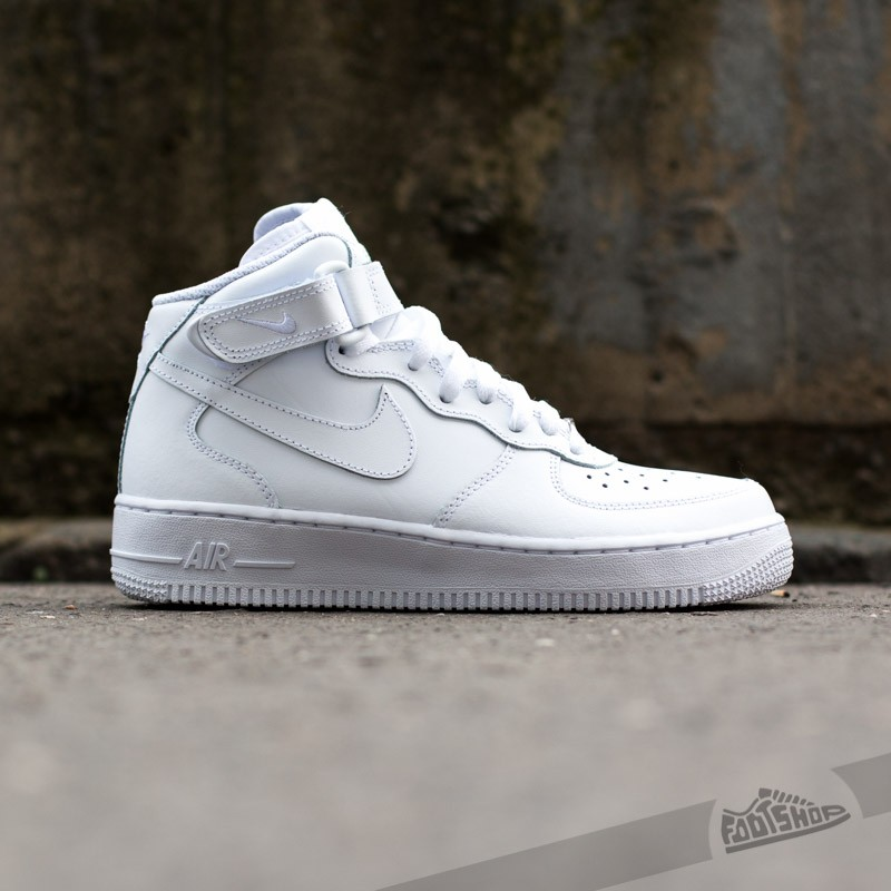 promo code c82c6 6fa6a Nike Air Force 1 Mid (GS) White  White at a great price 81