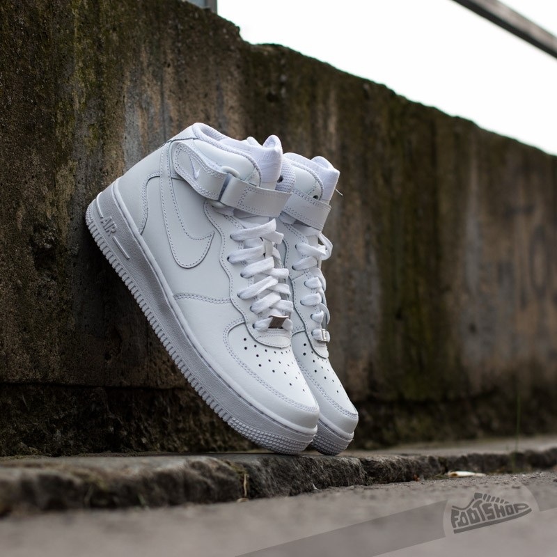 Nike Air Force 1 Mid (GS) White/White