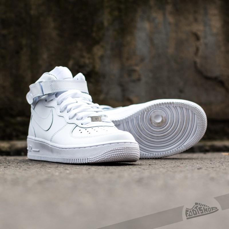 Nike Air Force 1 Mid (GS) White  White za skvelú cenu 81 € 7bc3d28471d