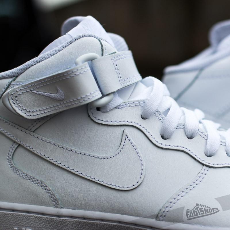 Nike Air Force 1 Mid (GS) White  White za skvělou cenu 2 190 e0ee4c5a78