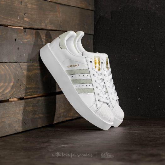 adidas Superstar Bold W Ftw White/ Linen Green/ Gold Metallic | Footshop