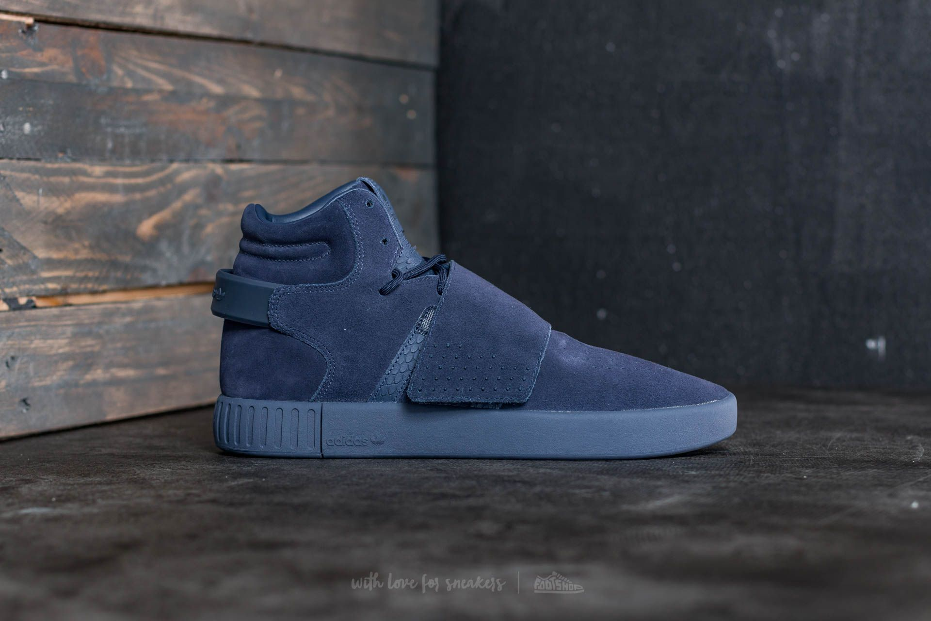adidas Tubular Invader Strap Trace Blue Trace Blue Ftw White   Footshop