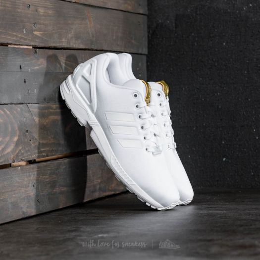 adidas zx flux white and gold