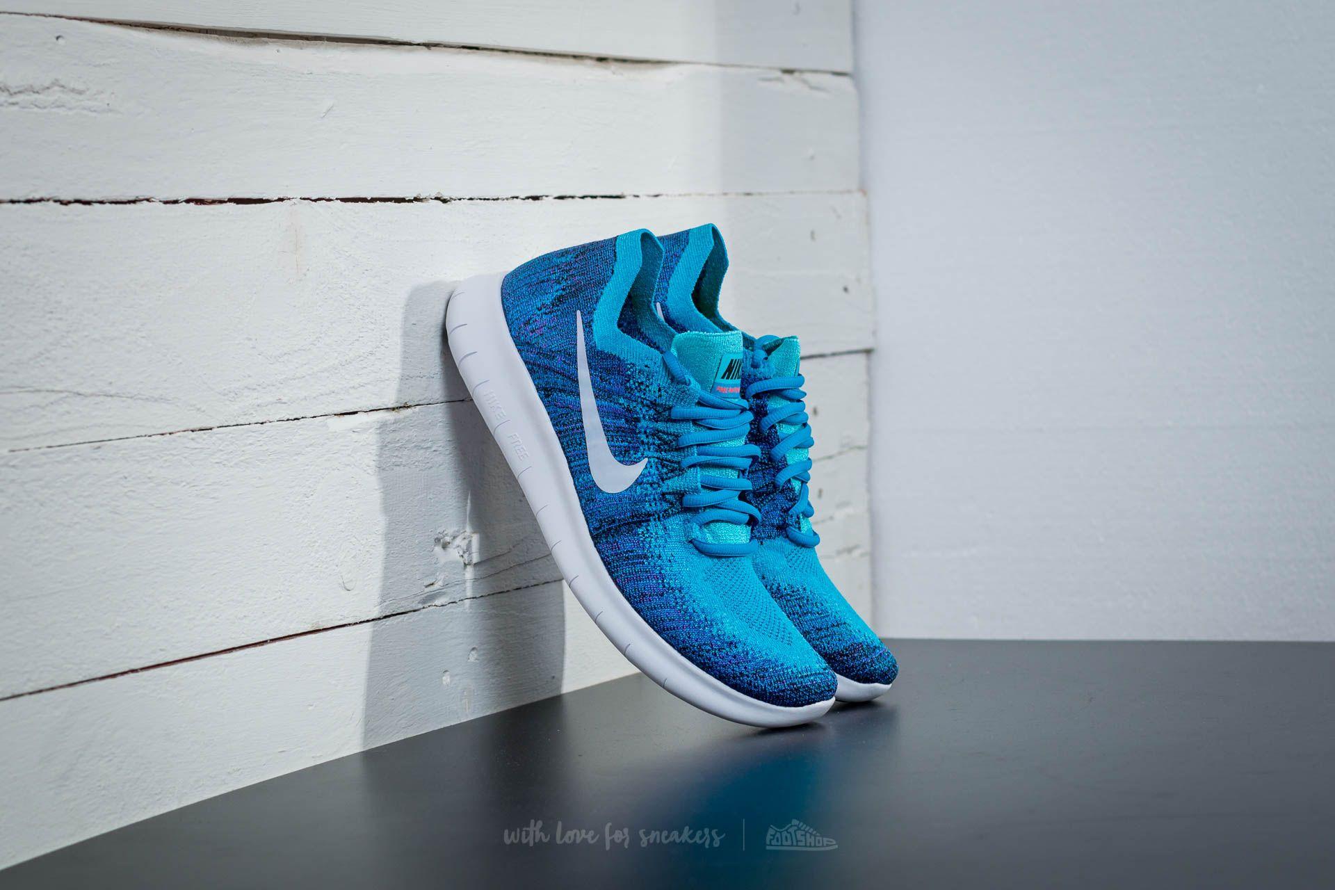 f62d2c8bfab67 Nike Free Run Flyknit 2017 Blue Orbit  Pure Platinum-Black