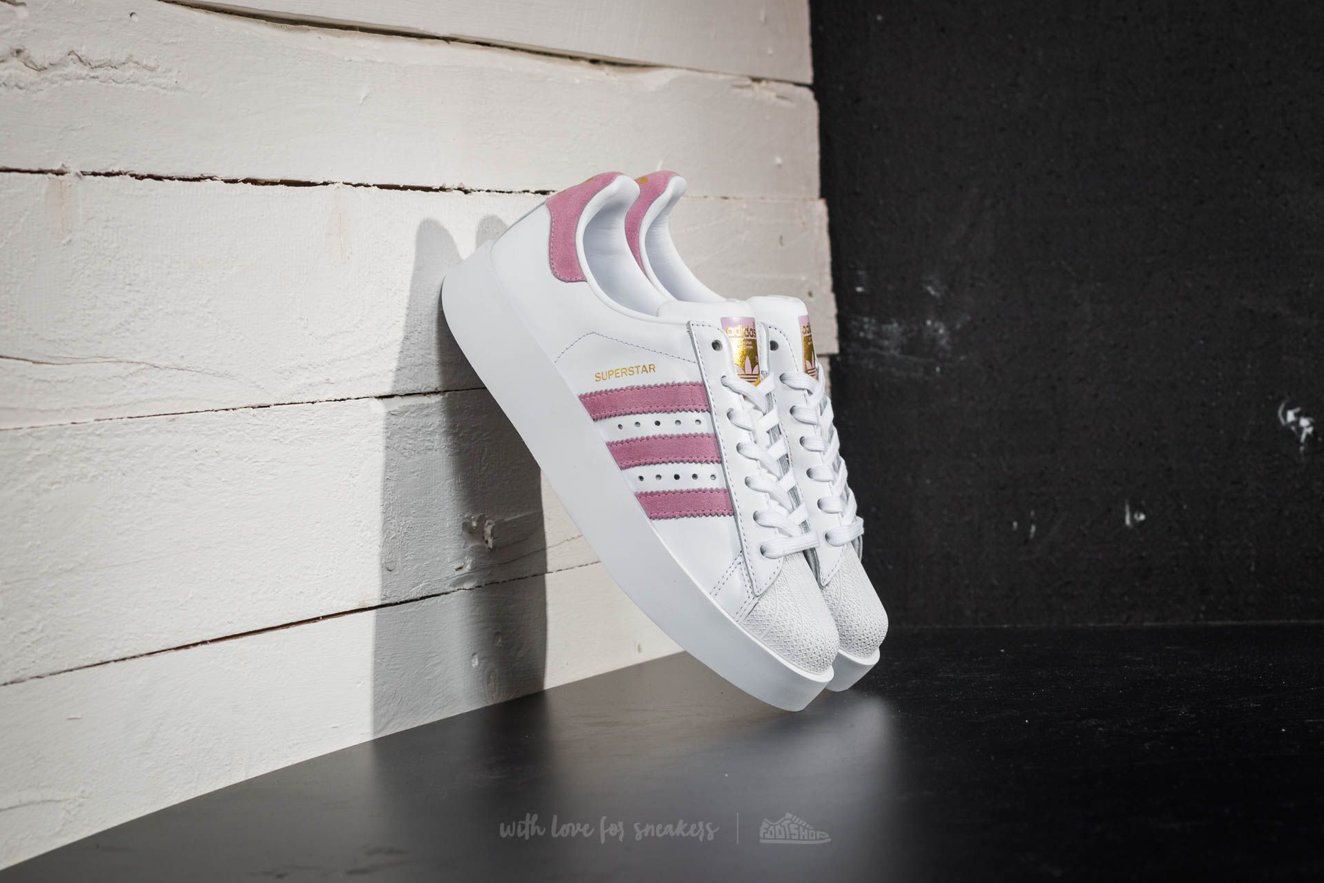 more photos 1061a ed6a3 ... germany adidas superstar bold w ftw white wonder pink gold metalic  041ba f00f1 ...