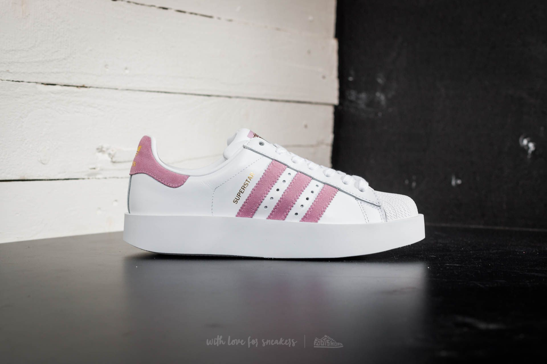 adidas Superstar Bold W Ftw White Wonder Pink Gold Metalic