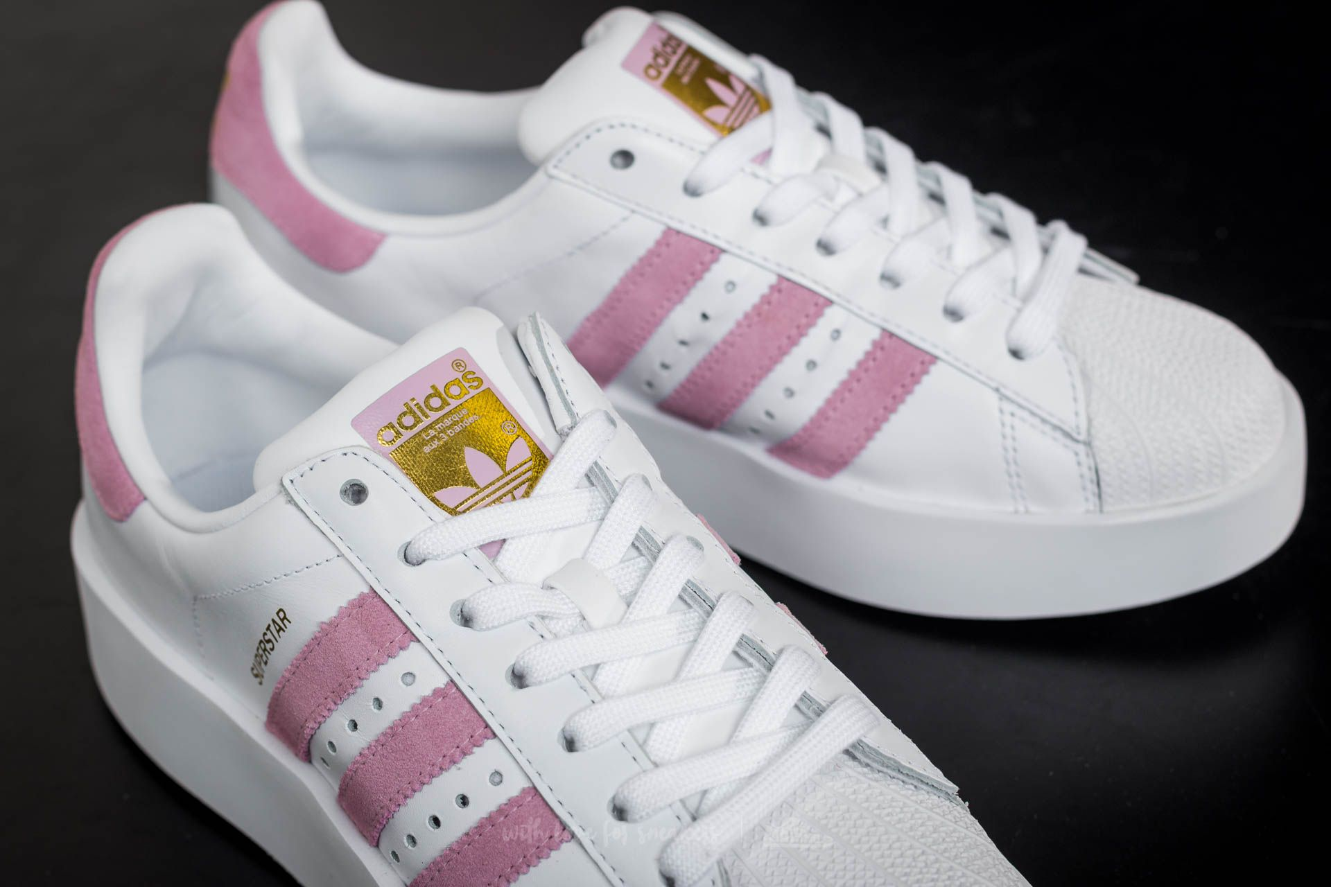 adidas superstar metallic rosa
