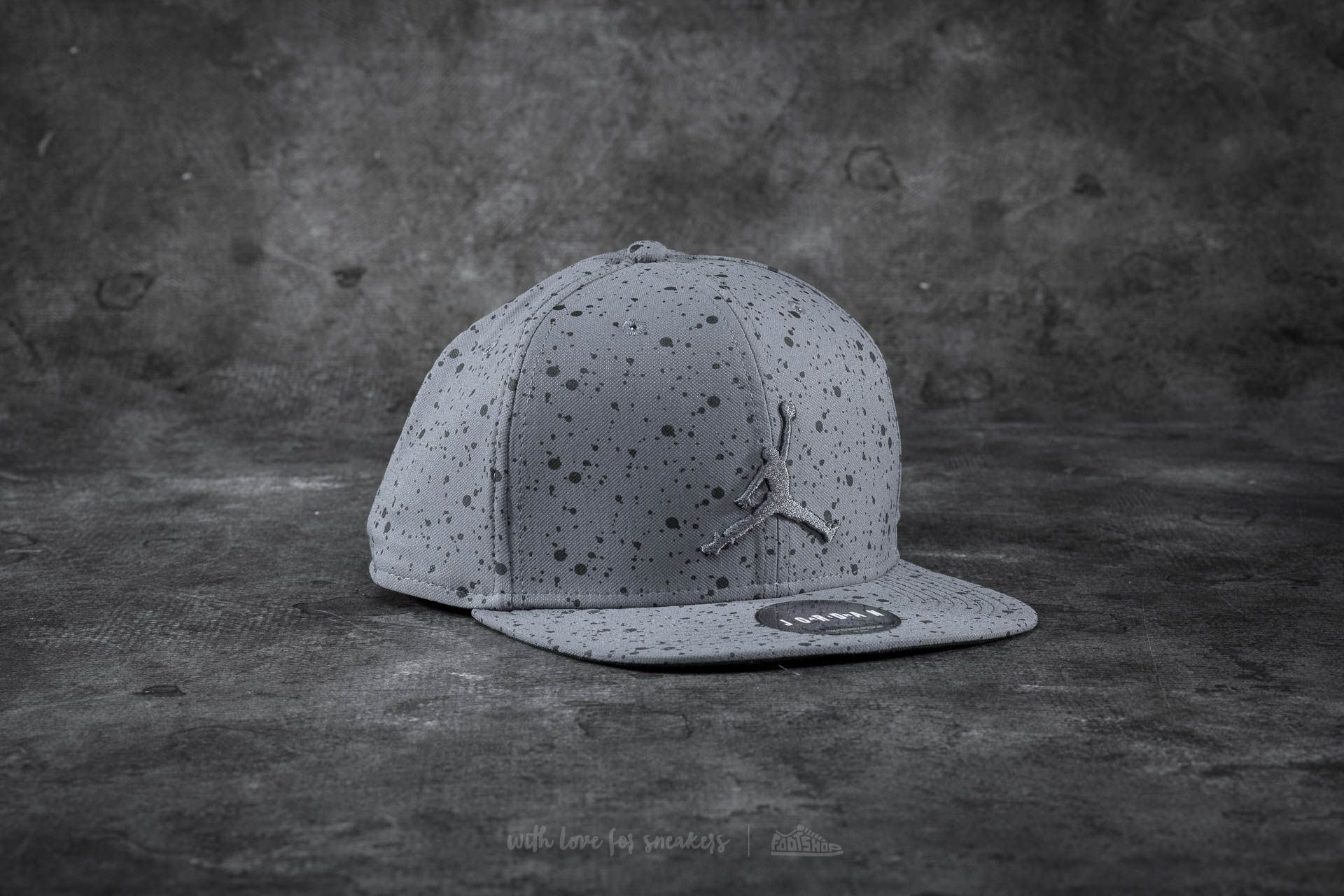 e016675e0 Jordan Speckle Print Snapback Grey | Footshop