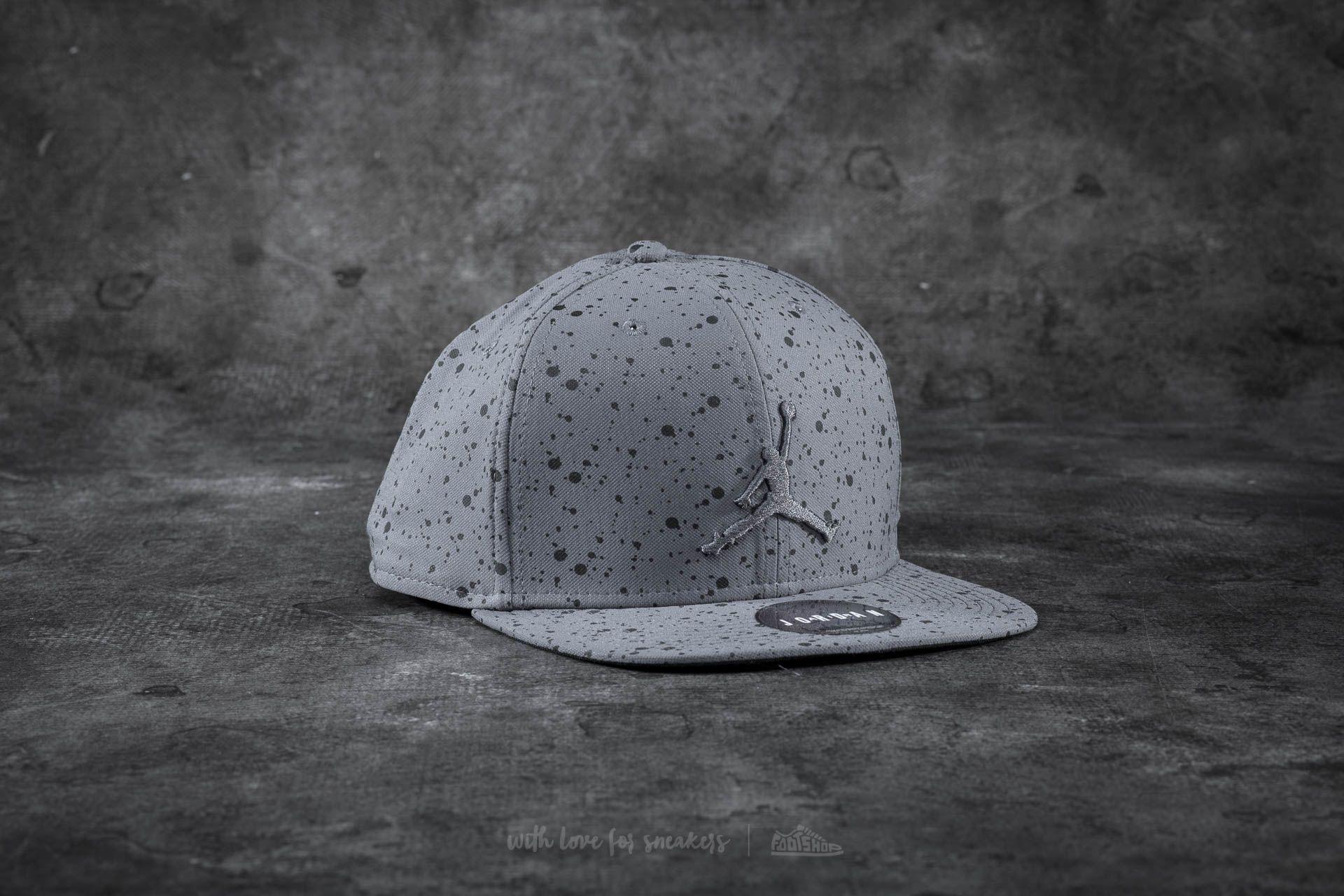480885012bb33c Jordan Speckle Print Snapback Grey