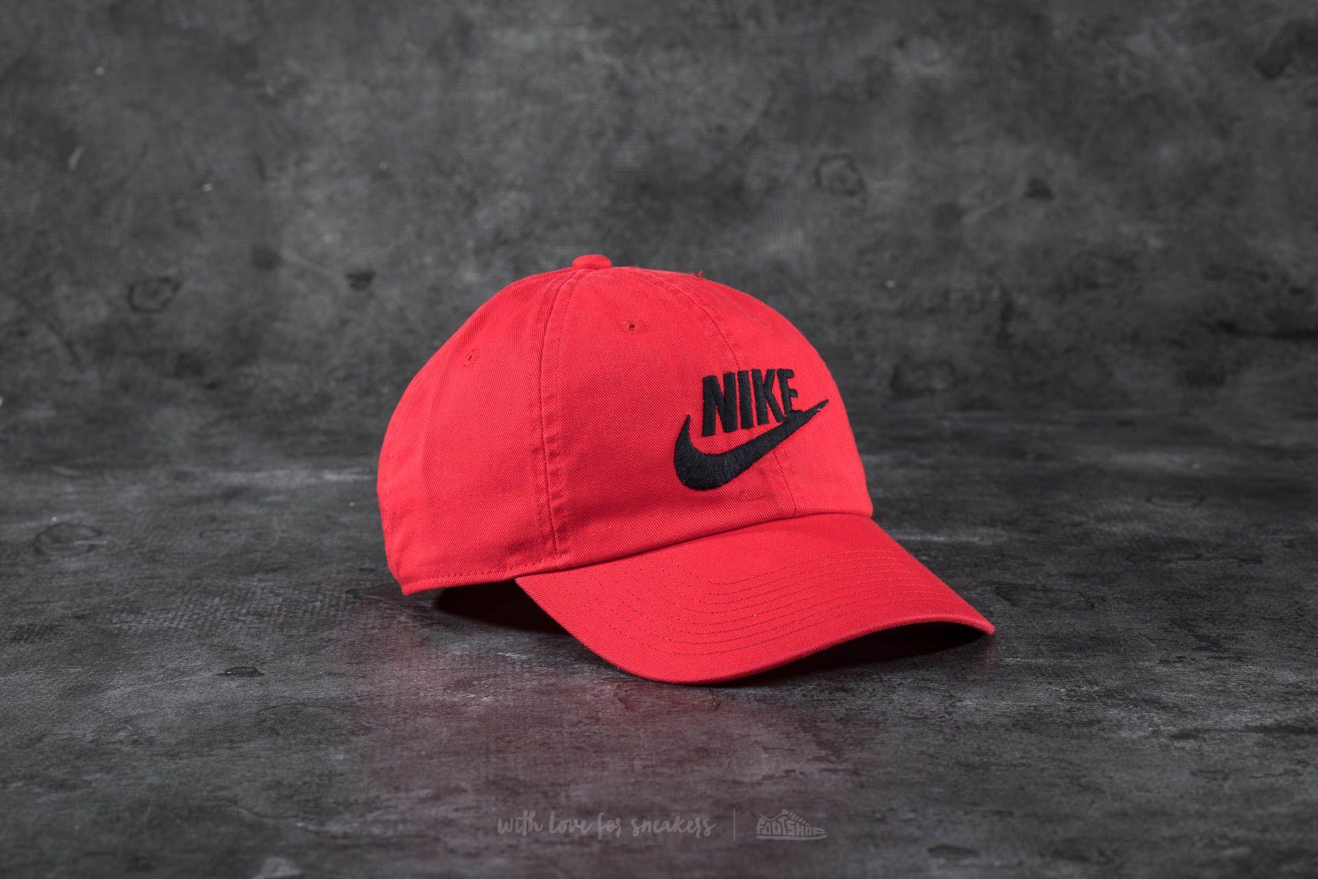 ae7235e3b Nike Futura Washed Heritage86 Cap Red/ Black | Footshop