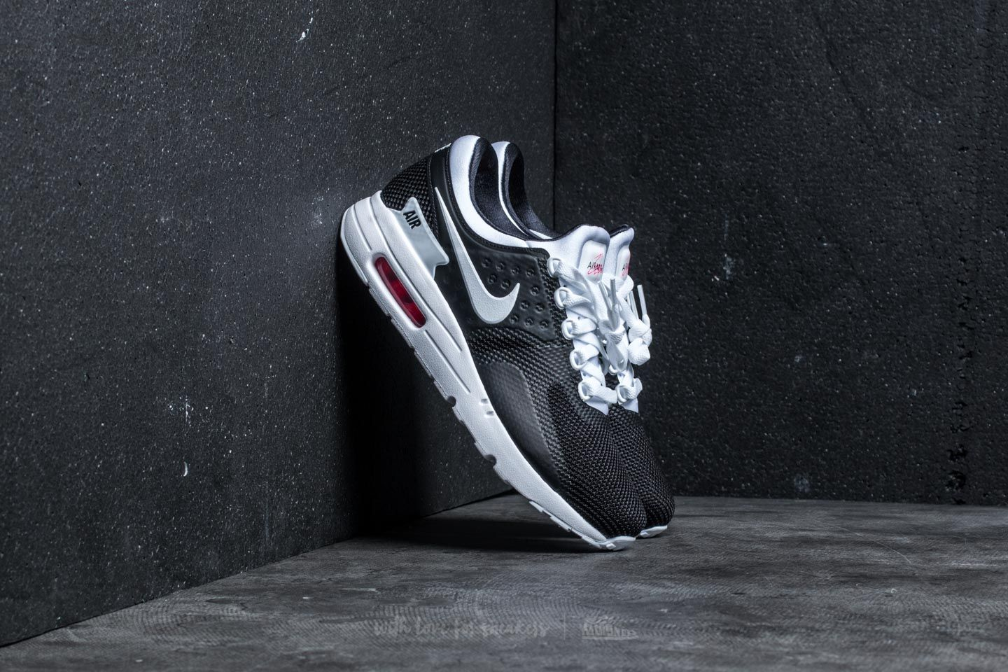 Nike Air Max Zero Essential Black  White-White-Solar Red  2adfe07f7bda