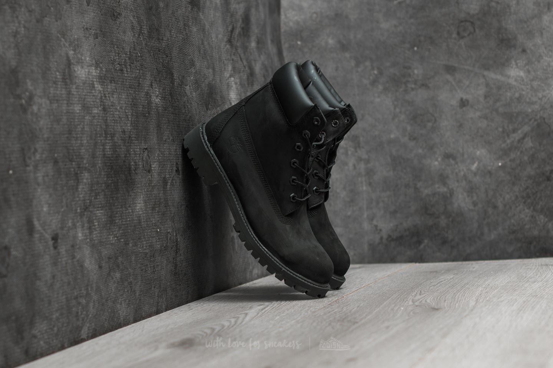 Timberland Junior 6IN Premium Black Nubuck