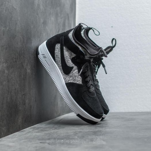 reputable site 99d5e 84b4f Nike Air Force 1 Ultraforce Mid Premium Black/ Black-White | Footshop