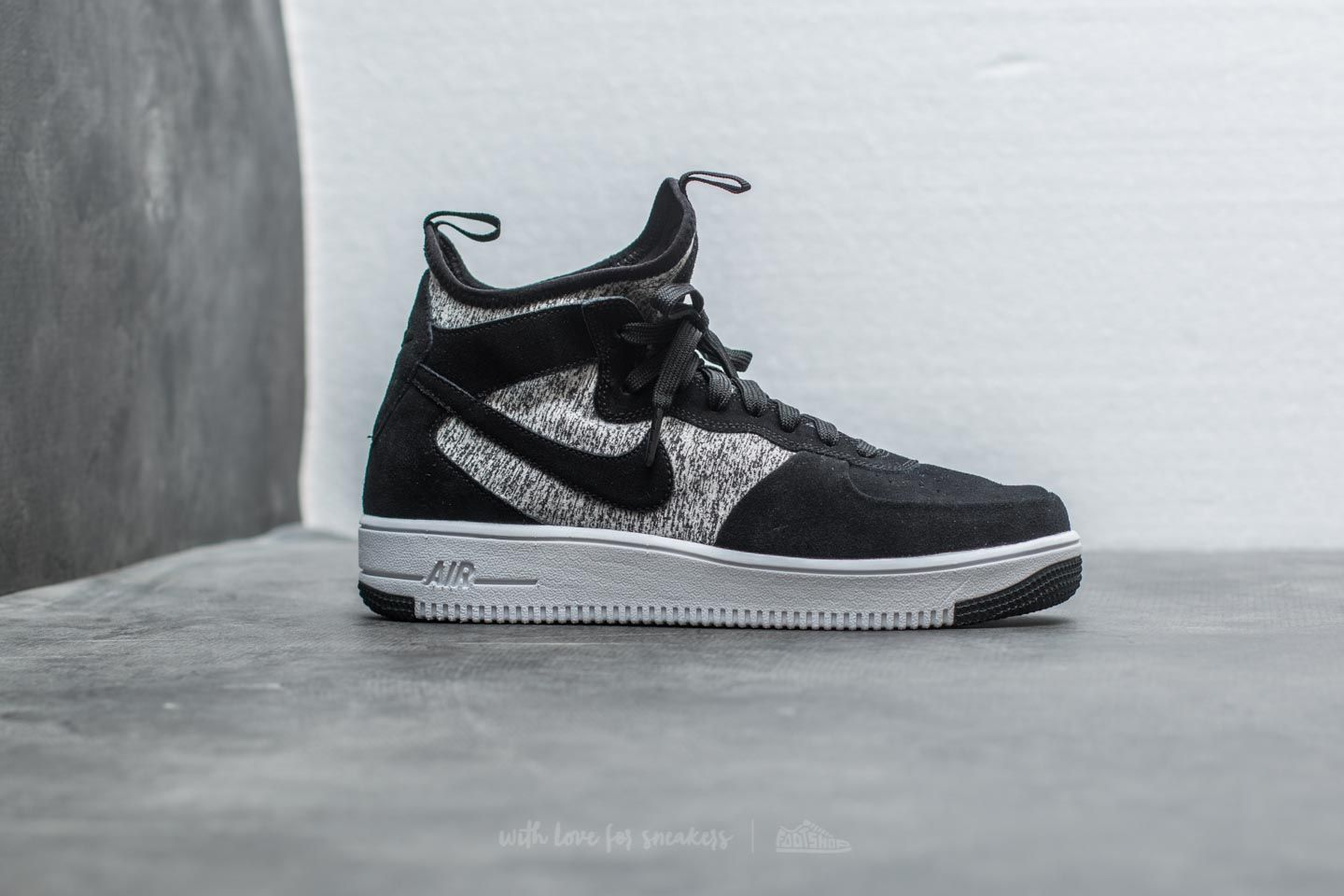 Nike Air Force 1 Ultraforce Mid Premium Black Black White | Footshop