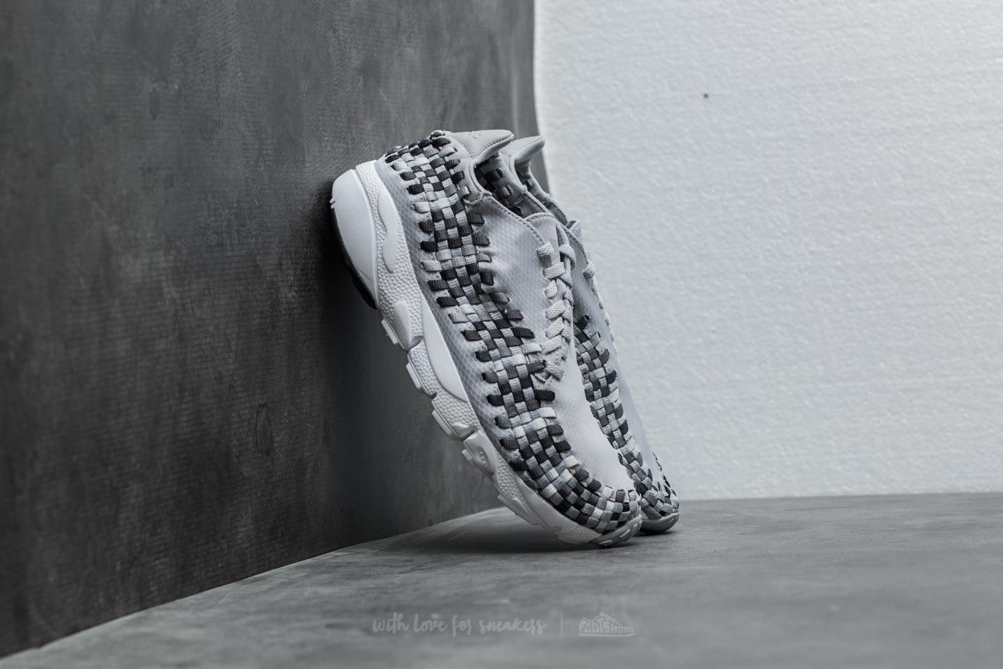Nike Air Footscape Woven NM Wolf Grey/ Black-Dark Grey