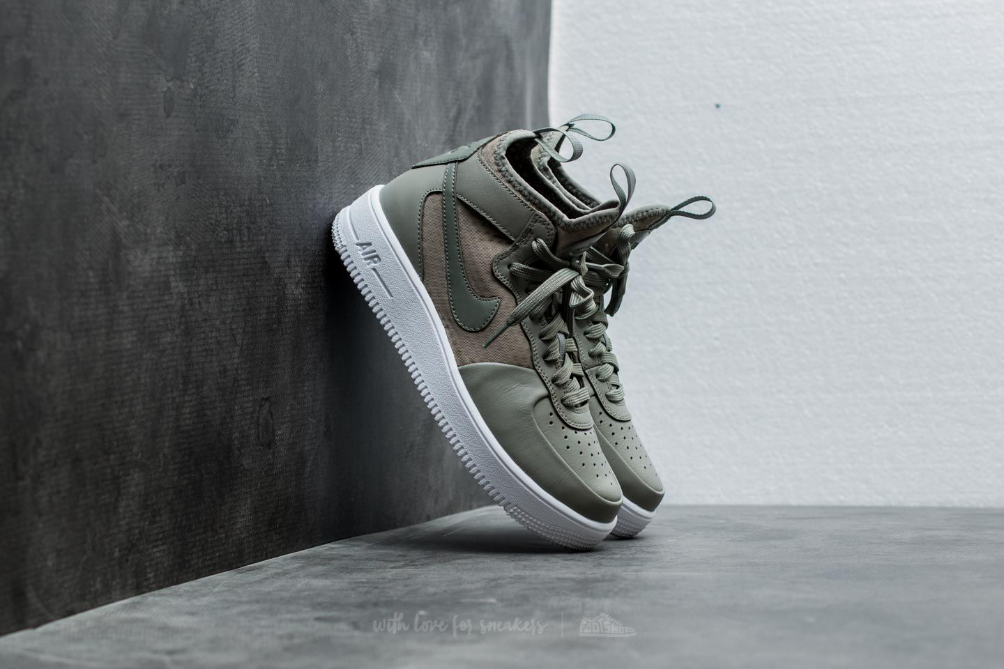 65bef3e73 Nike Wmns Air Force 1 Ultraforce Mid Dark Stucco/ Dark Stucco-Black ...