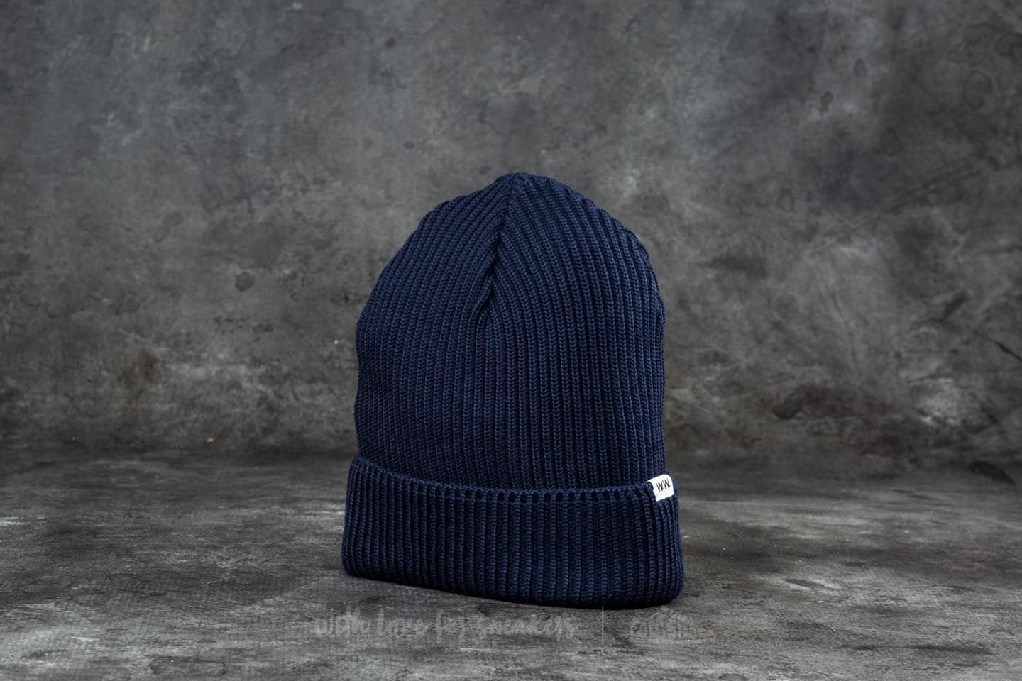 afaf7a938 WOOD WOOD Henry Ribbed Beanie Navy | Footshop
