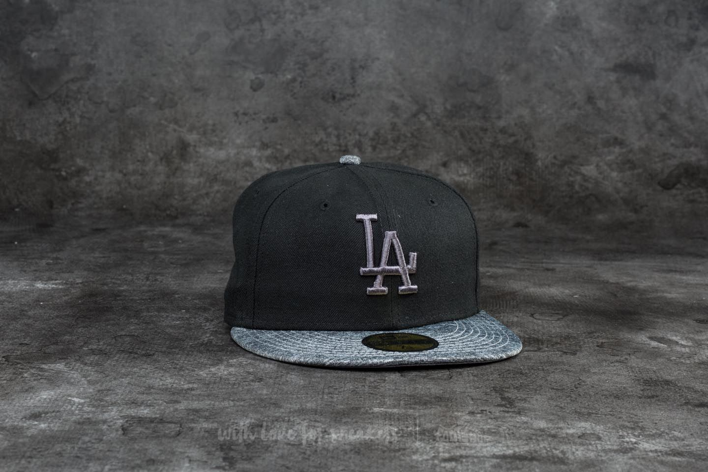 New Era 59Fifty Grey Collection Los Angeles Dodgers Cap Black/ Grey Heather za skvělou cenu 699 Kč koupíte na Footshop.cz