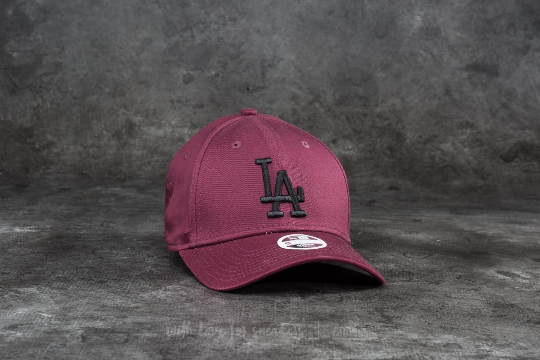 New Era 9Forty Women League Essential Los Angeles Dodgers Cap. Maroon  Black efe4789261a