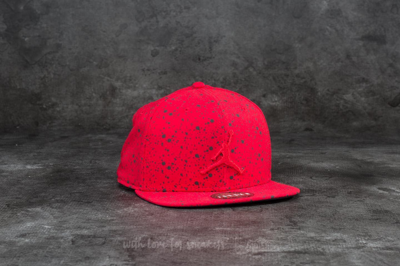 dbc08e9260bee9 Jordan Speckle Print Snapback Gym Red
