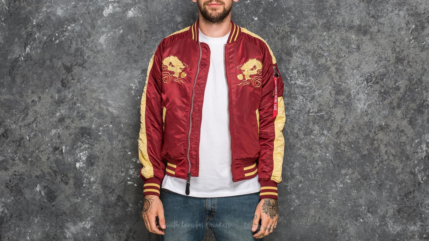 Alpha Industries Japan Dragon Burgundy at a great price $121 buy at Footshop