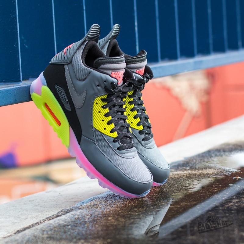 7d65d22fc8da Nike Air Max 90 Sneakerboot Ice Dark Grey Black