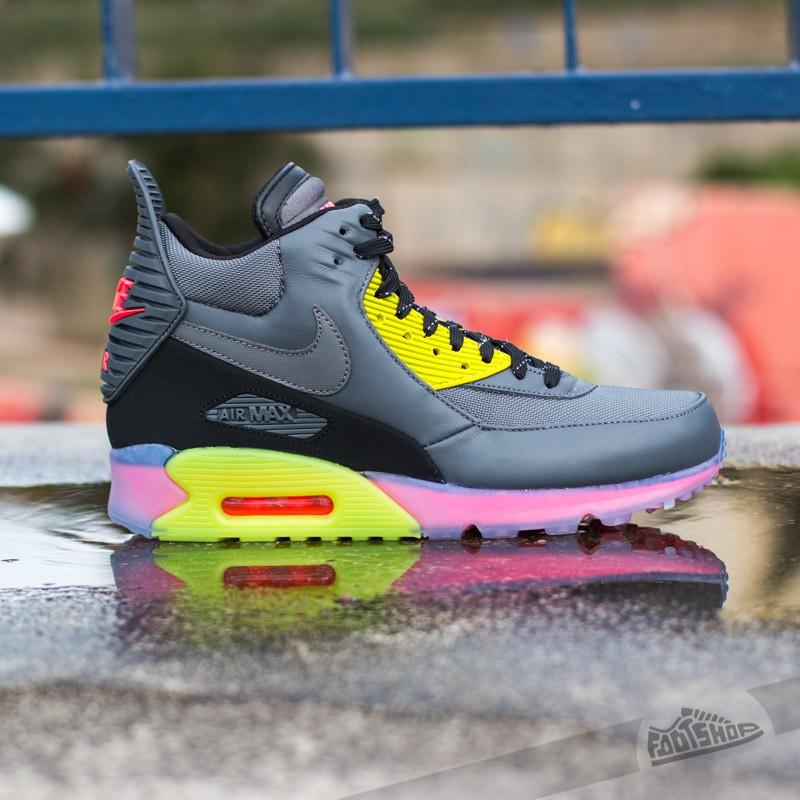 Nike Air Max 90 Sneakerboot Ice Wolf GreyWhiteInfrared   Footshop