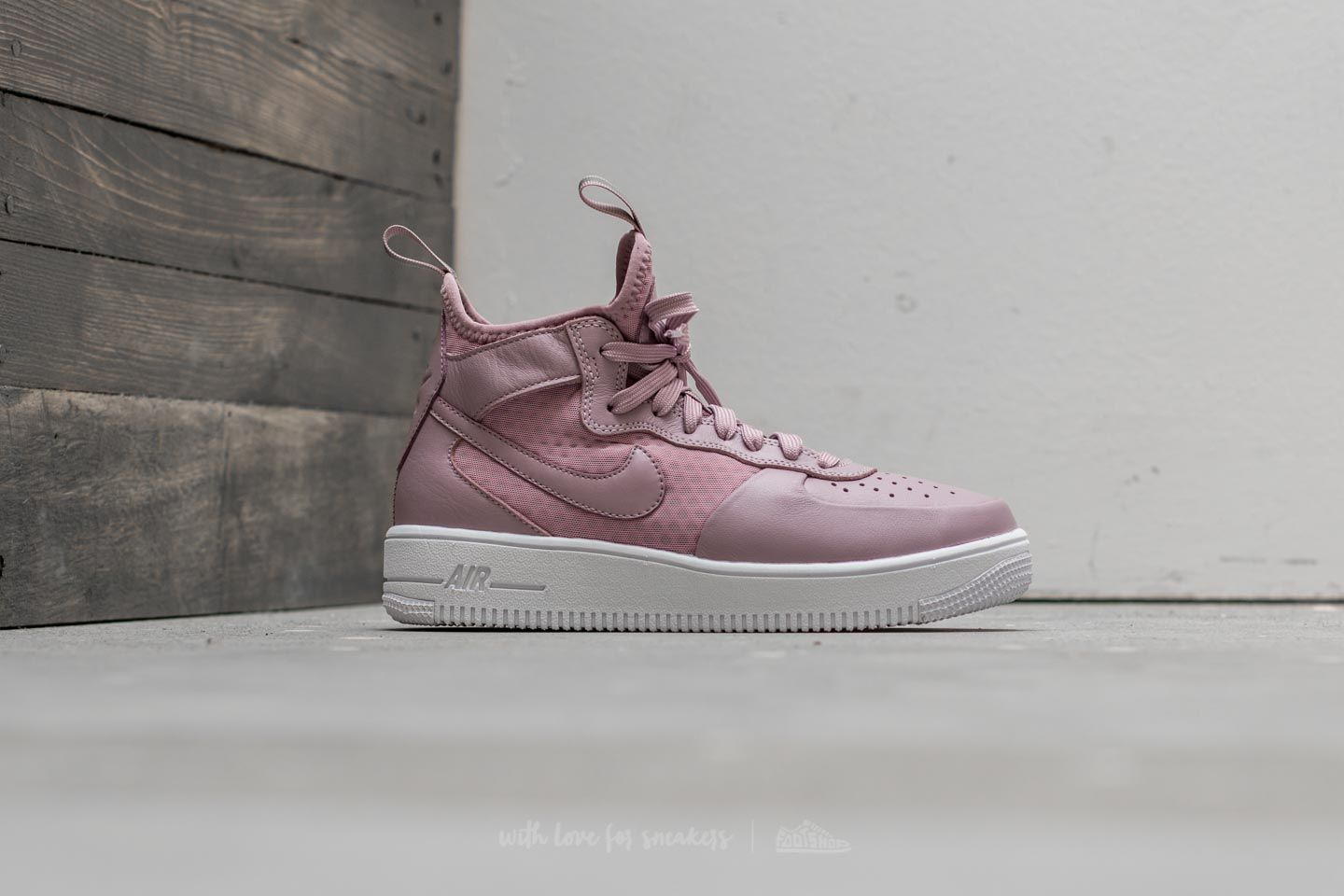 Nike W Air Force 1 Ultraforce Mid Plum Fog Plum Fog Black White | Footshop