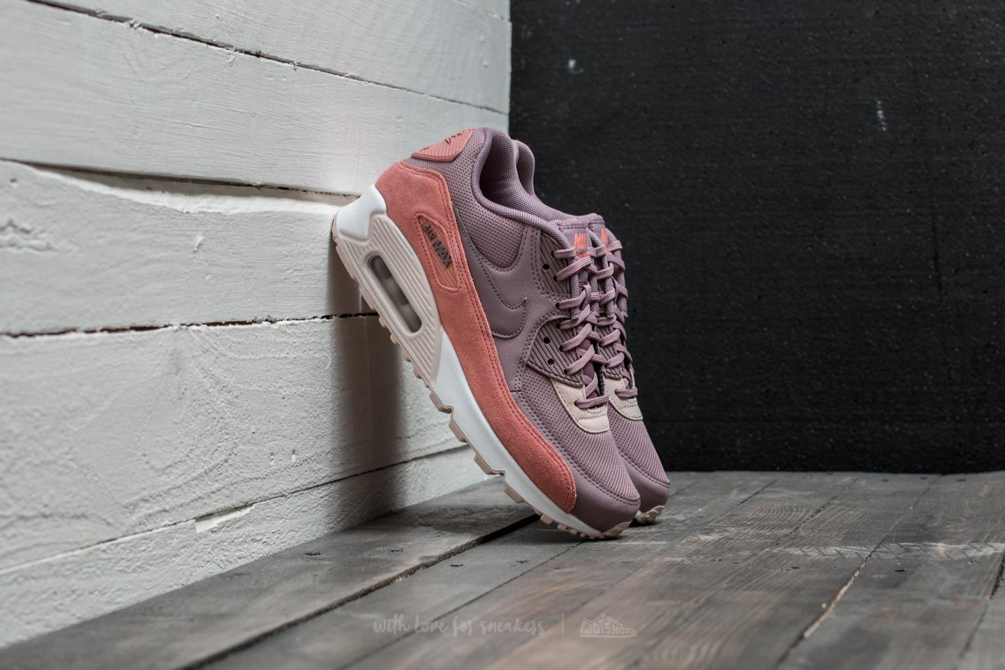 cafae9f758d7 Nike Wmns Air Max 90 Red Stardust  Taupe Grey