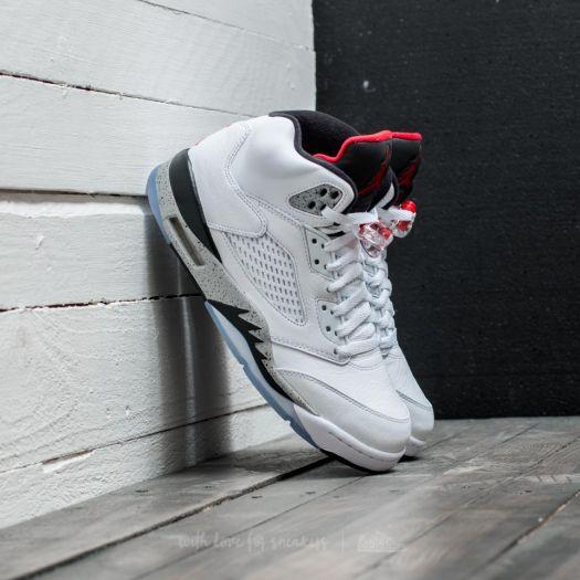 new styles c967d b7a58 Nike Air Jordan 5 Retro White/ University Red-Black | Footshop