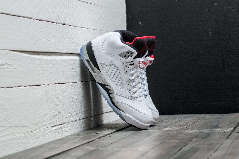 new styles 2f7e6 28032 Nike Air Jordan 5 Retro White/ University Red-Black | Footshop