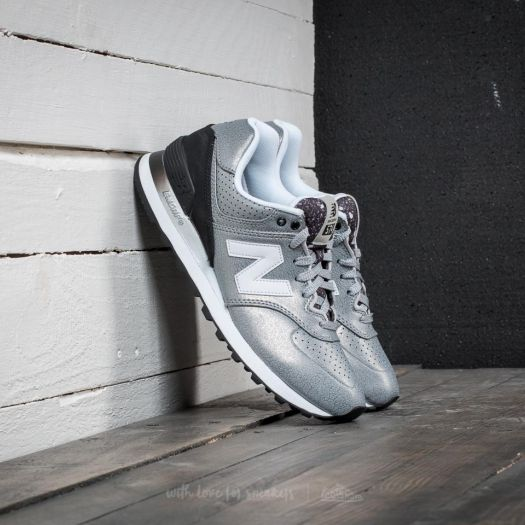 new balance 574 dark grey silver