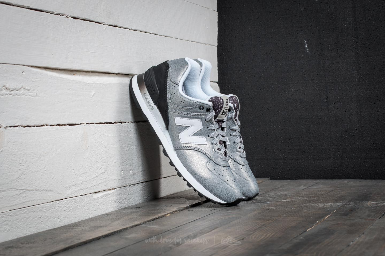 Women's shoes New Balance 574 Silver/ Black