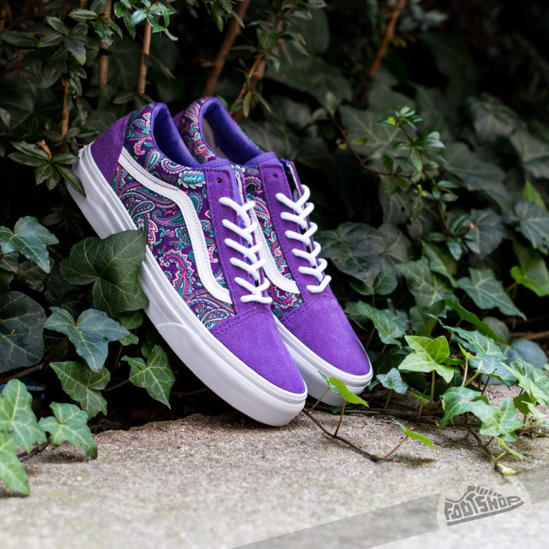 4264a3b82103 Vans Old Skool (Paisley) Violet True White