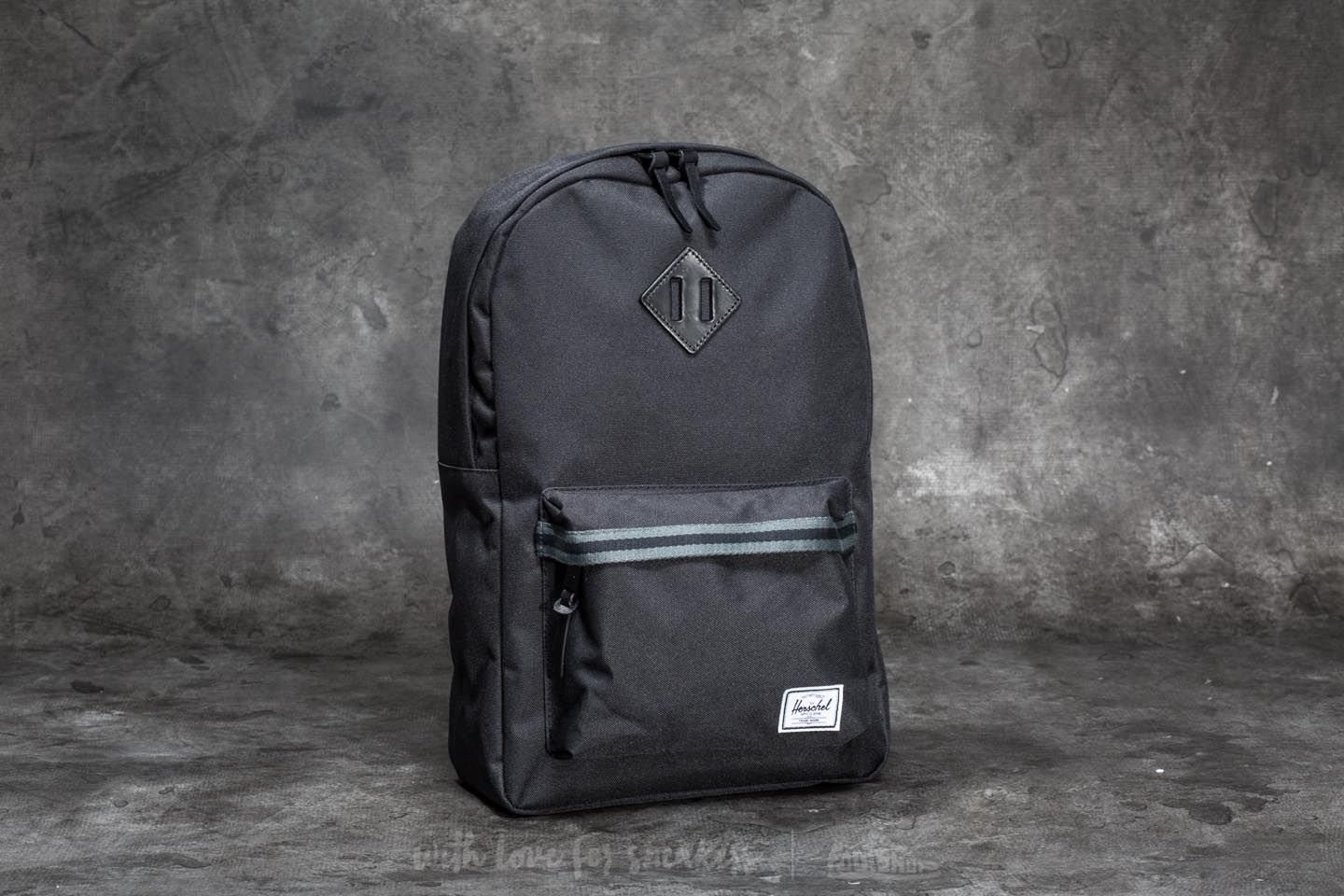 Herschel Supply Co. Heritage Mid-Volume Backpack Black  Dark ... 214662a0f34f7