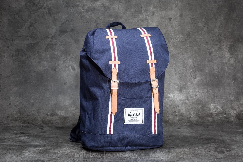 9e7831a0f6 Herschel Supply Co. Retreat Backpack Peacoat  White  Windsor Wine ...