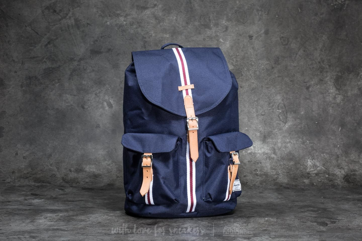 5842ad69414 Herschel Supply Co. Dawson Backpack Peacoat  White  Windsor Wine ...