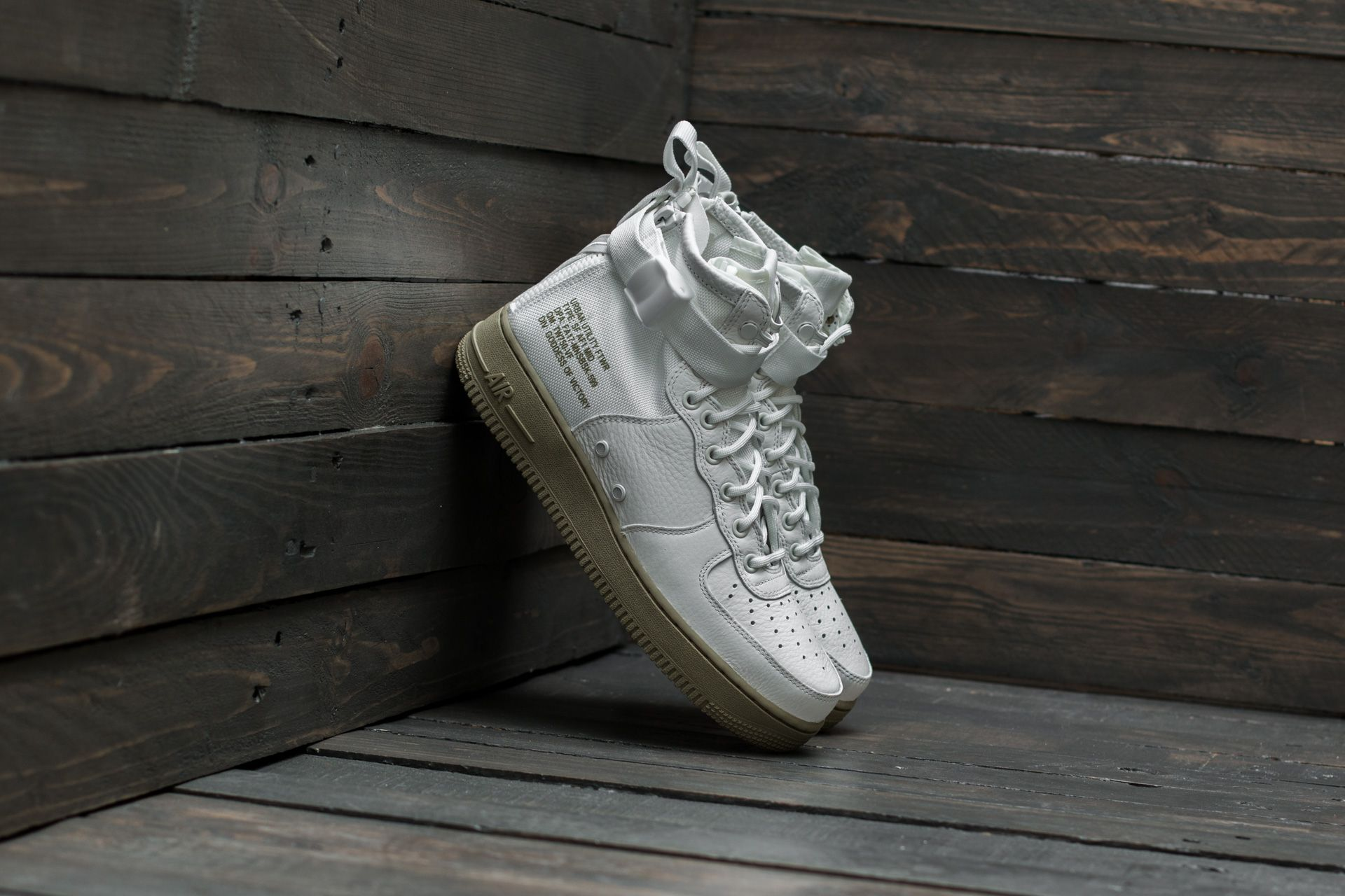 competitive price 1505a b4e72 Nike SF Air Force 1 Mid. Ivory Ivory-Neutral Olive