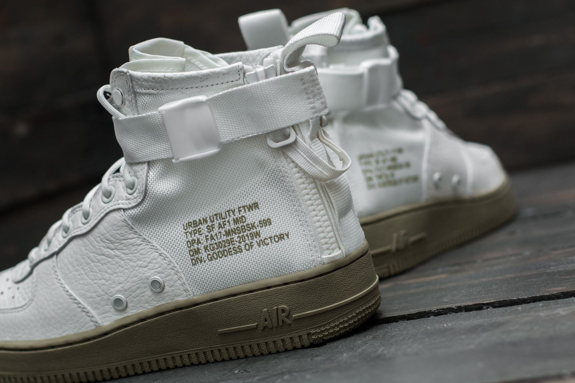 Ivoryivoryneutral Olive Nike SF Air Force 1 Mid 17 Men