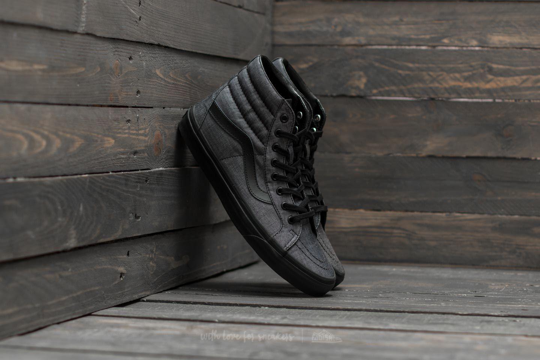 552aeb9869 Vans Sk8-Hi Reissue (Mono Chambray) Black  Black