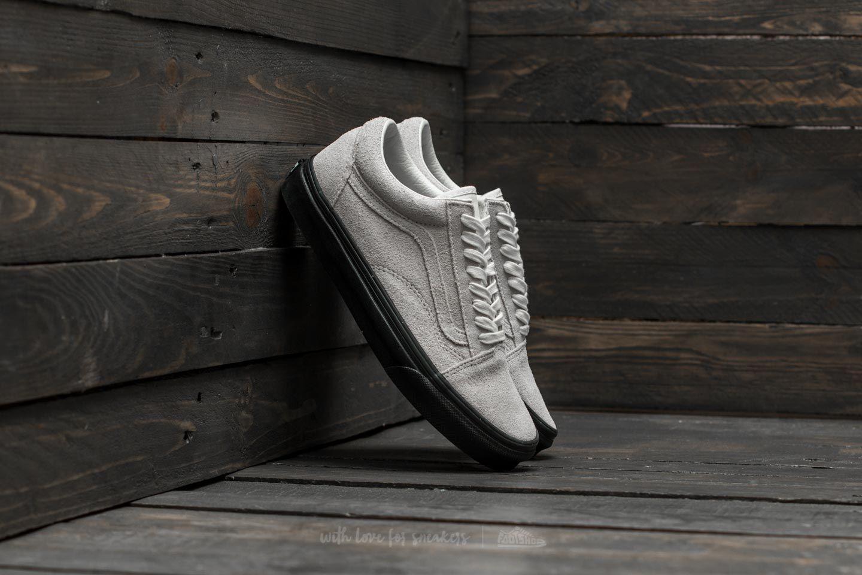 Vans Old Skool (Suede) Blanc de Blanc Black | Footshop
